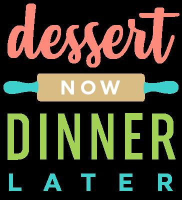 Dessert Now, Dinner Later! Logo