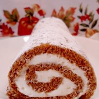 Pumpkin Roll with Whipped Cream Cheese Filling