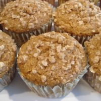 Spiced Pumpkin 'n' Cream Cheese Streusel Topped Muffins