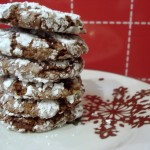 """Snow"" Dusted Mint Chocolate Cookies"