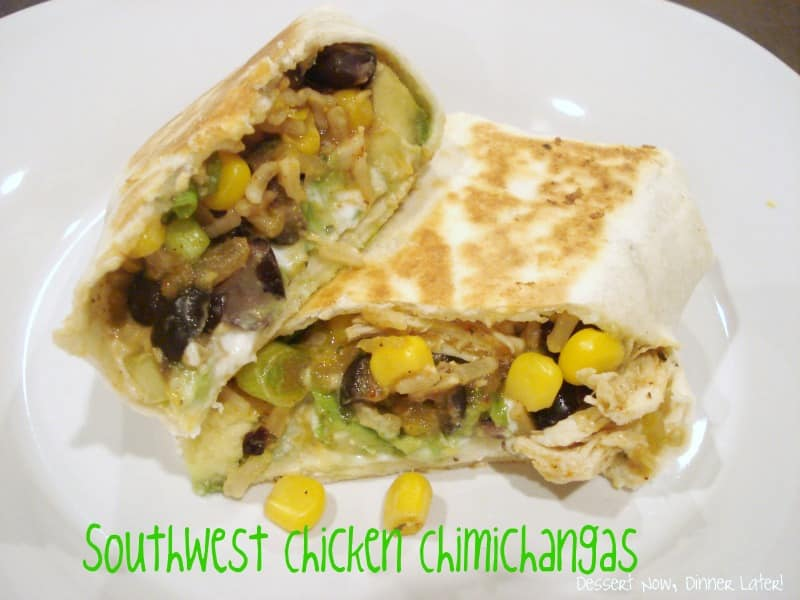 Southwest Chicken Chimichangas