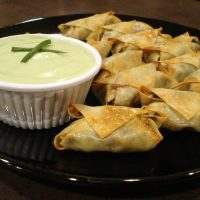 Southwest Egg Rolls with Creamy Avocado Dip