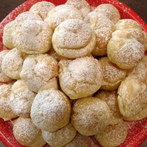 Egg Nog Cream Puffs