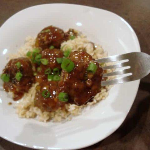 Spicy Sweet Mango Meatballs