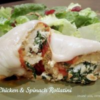 Chicken & Spinach Rollatini