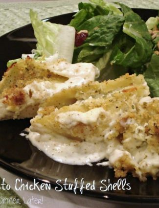 Creamy Pesto Chicken Stuffed Shells