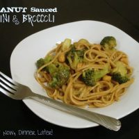 Peanut Sauced Linguini & Broccoli
