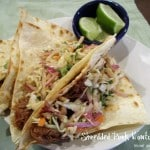 Shredded Pork Wonton Tacos