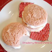 Strawberry Almond Creme Cookies