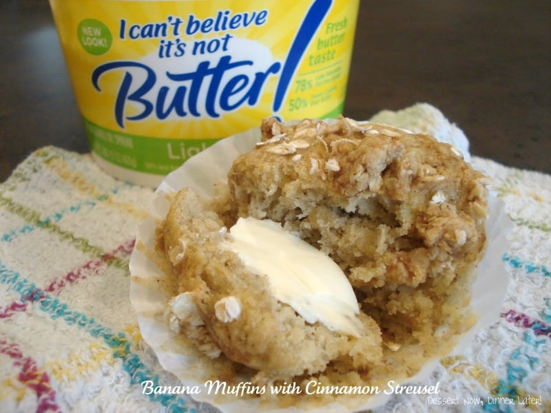 Banana Muffins with Cinnamon Streusel