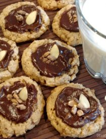 Ganache Toffee Crunch Cookies