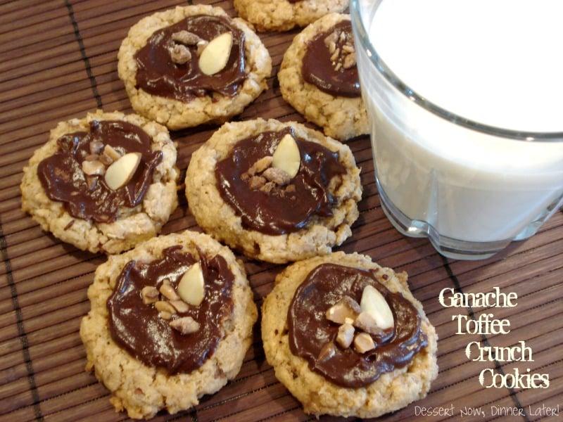 Ganache Toffee Crunch Cookies