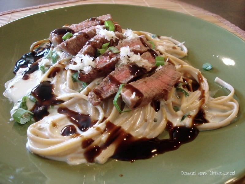 Steak & Garlic Parmesan Linguini