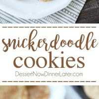 The BEST snickerdoodles are slightly crisp on the outside, soft and buttery on the inside, with plenty of cinnamon-sugar. You won't be able to stop eating these easy snickerdoodle cookies!