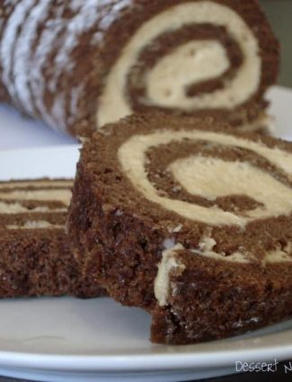 Chocolate Roulade with Whipped Peanut Butter Filling