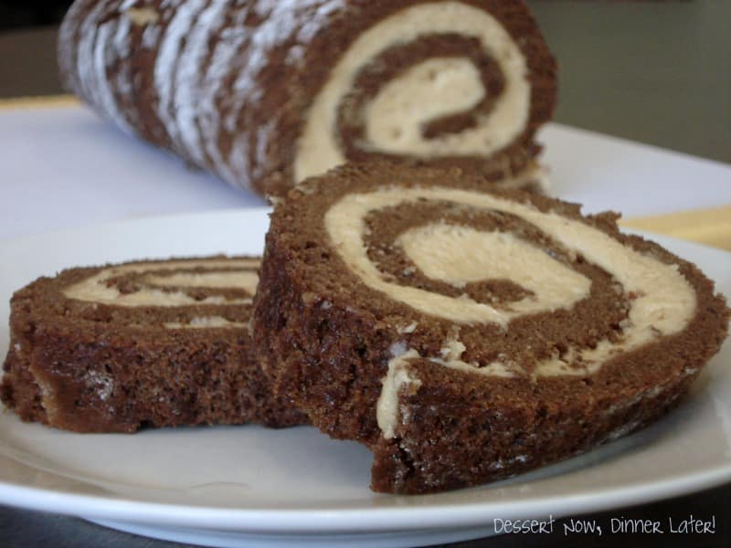 Chocolate Roulade with Whipped Peanut Butter Filling ...