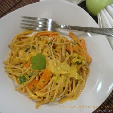 Coconut Red Curry Sauce with Noodles