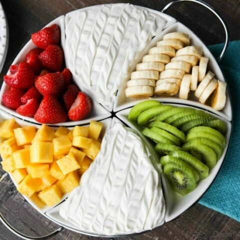 Coconut Cream Fruit Dip - This super easy 3-ingredient fruit dip is creamy and delicious paired with any fruit! A must for summer parties and potlucks, baby and bridal showers, or anytime!