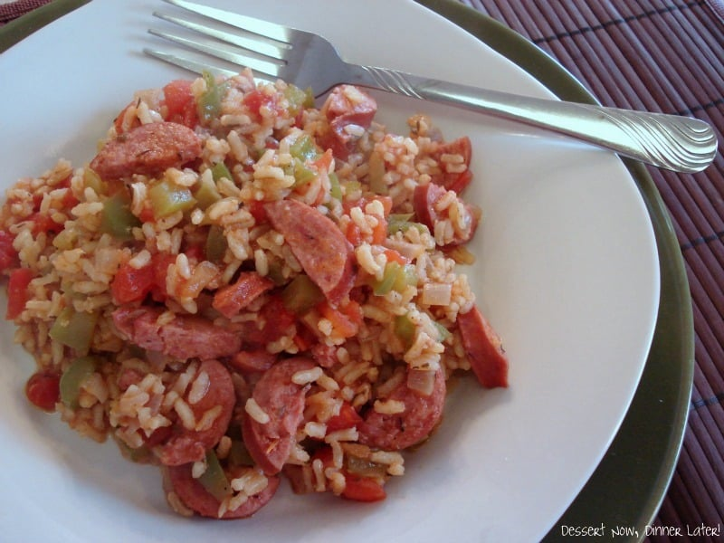 Quick Sausage Jambalaya - Dessert Now, Dinner Later!