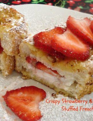 Crispy Strawberry & Greek Yogurt Stuffed French Toast