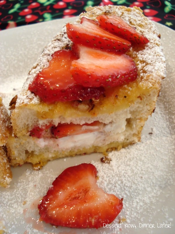 Crispy Strawberry & Greek Yogurt Stuffed French Toast