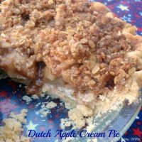 Dutch Apple Cream Pie