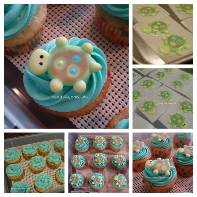 Royal Icing Turtle Cupcakes