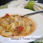 Sausage & Tomato Tortellini Soup