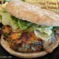 Thai Turkey Burgers with Peanut Sauce