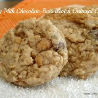 Chewy Milk Chocolate-Butterscotch Oatmeal Cookies