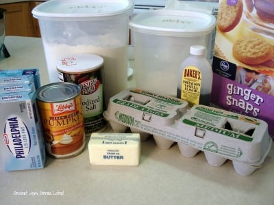 Gingersnap Pumpkin Cheesecake - Ingredients