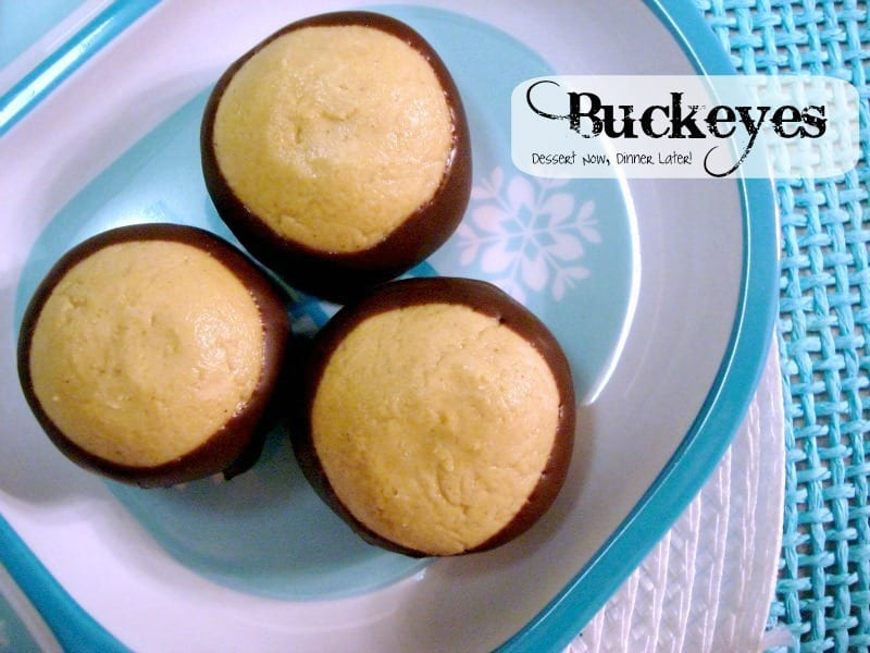 Chocolate Peanut Butter Buckeyes are the perfect holiday treat!