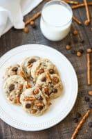 Caramel Pretzel Chocolate Chip Cookies (+ Video)
