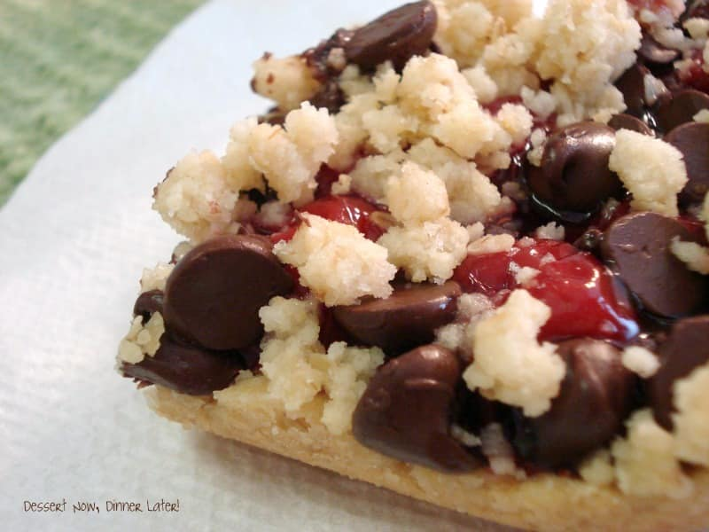 Cherry Chocolate Chip Crumb Bars are a unique and delicious treat!