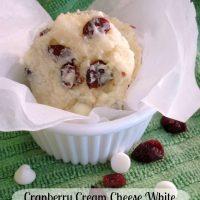 Cranberry Cream Cheese White Chocolate Chip Cookies
