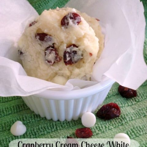 Cranberry Cream Cheese White Chocolate Chip Cookies are easily made with a sugar cookie mix, for a unique holiday cookie!