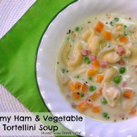 Creamy Ham & Vegetable Tortellini Soup