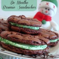 Creme De Menthe Brownie Sandwiches