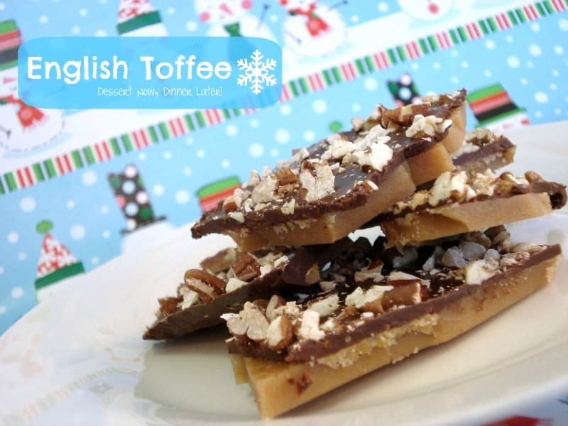 Classic English Toffee makes a great holiday neighbor gift!