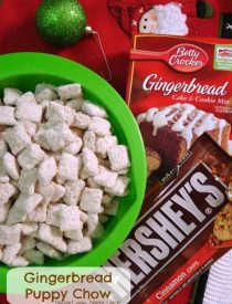 Gingerbread Puppy Chow is the perfect holiday snack with only 5 ingredients!