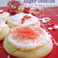 No Roll Frosted Sugar Cookies are so soft, chewy, and easy to make! No rolling and cutting required!