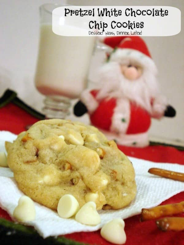 Pretzel White Chocolate Chip Cookies are both sweet and salty!