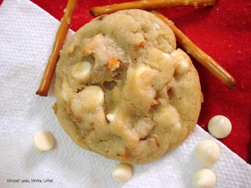 Pretzel White Chocolate Chip Cookies - Dessert Now, Dinner Later!