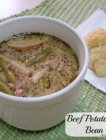 Beef Potato and Green Bean Soup