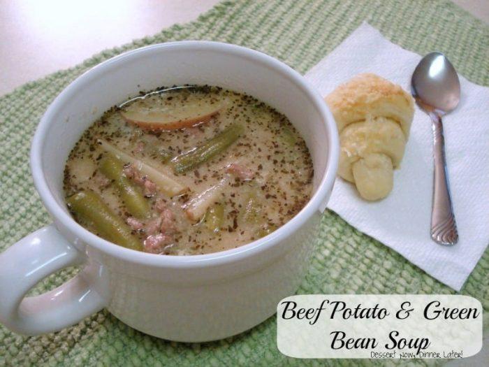 Beef Potato and Green Bean Soup