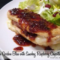 Chicken Cordon Bleu with Smokey Raspberry Chipotle Sauce