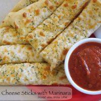 Garlic Cheese Sticks with Marinara