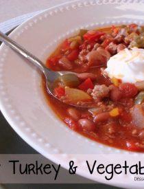 Hearty Turkey & Vegetable Chili