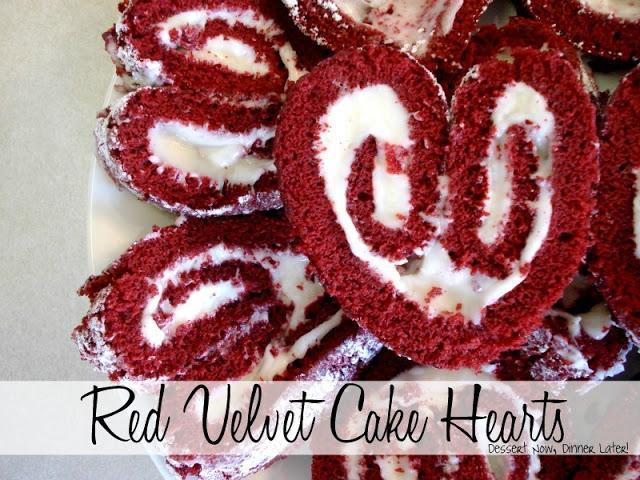 Red Velvet Cake Hearts Dessert Now Dinner Later