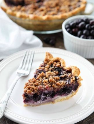 Layers of fruit and cheesecake make this Blueberry Cream Pie a special treat. The streusel topping adds an extra layer of flavor and texture that will have you savoring every bite.